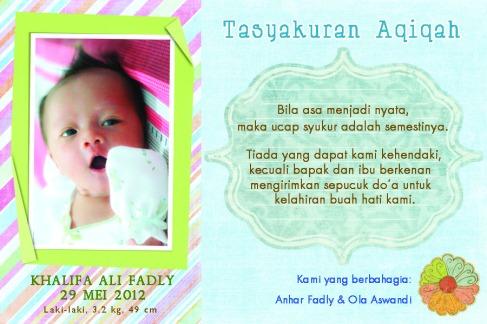 aqiqah-copy Welcome Son!